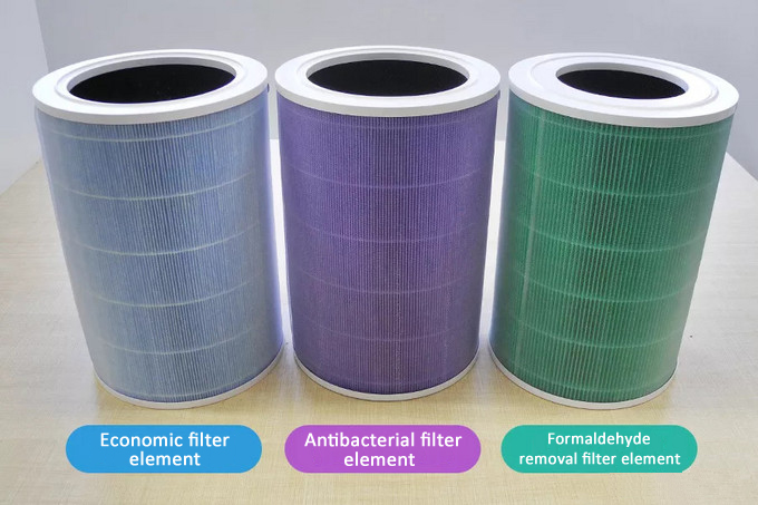 Purple Cartridge HEPA Filter with Activated Carbon Antibacterial Version Replacement for Xiaomi Air Purifier 2s 2 PRO