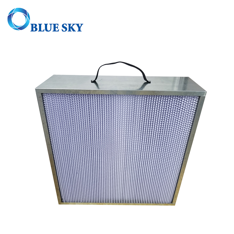 665*670*230mm Aluminium Frame Deep Pleat HVAC Box HEPA Filter