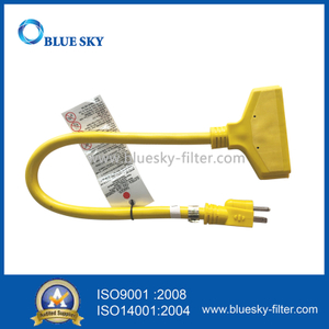 60 Cm Yellow Extension Electric Power Cord Cable for Vacuum Cleaners