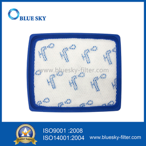 Blue Square Rubber Frame Foam Cotton Filter for Philips Vacuum Cleaner