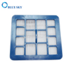 Vacuum Cleaner Blue ABS Frame Square Filter Replacements