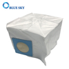 Two Openings White Non-Woven Cube Dust Bags for Vacuum Cleaners